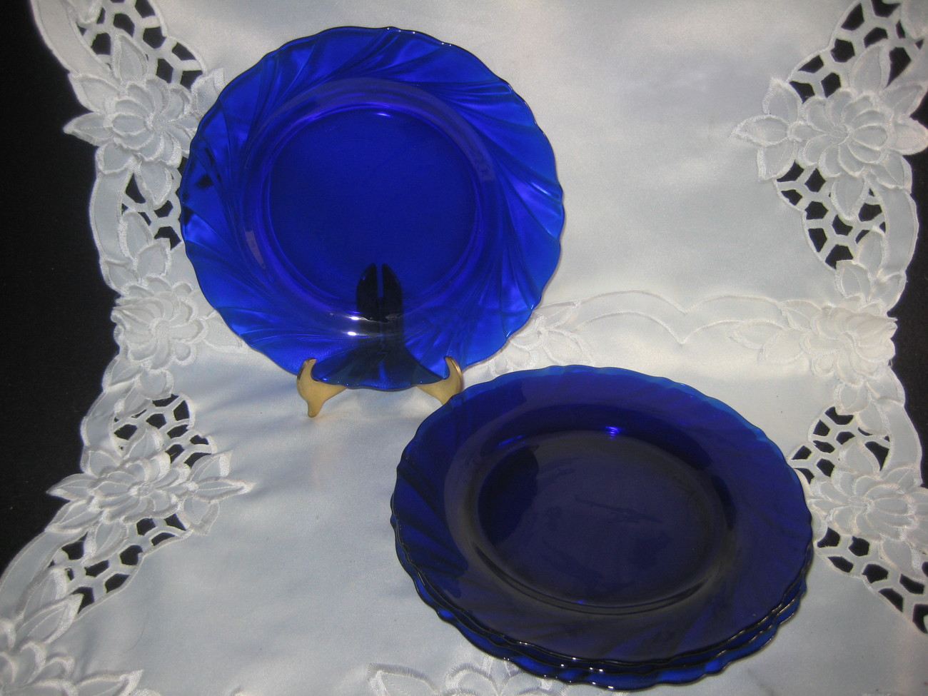 Cobalt Blue Salad Plates France