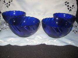 Set of 4 cobalt blue bowls - $18.00