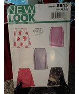 New Look 6843 Misses Skirts 1 hr easy sewing time - $4.99