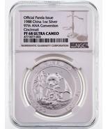 1988 China 1 Oz. Silver Panda 97th ANA Convention Graded by NGC as PF 68... - $743.24