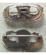 WWII Paratrooper with Rigger  Sterling Pin Back    - $40.00