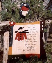 Frosty OOP Primitive Stitchery and ornament pattern - $3.50