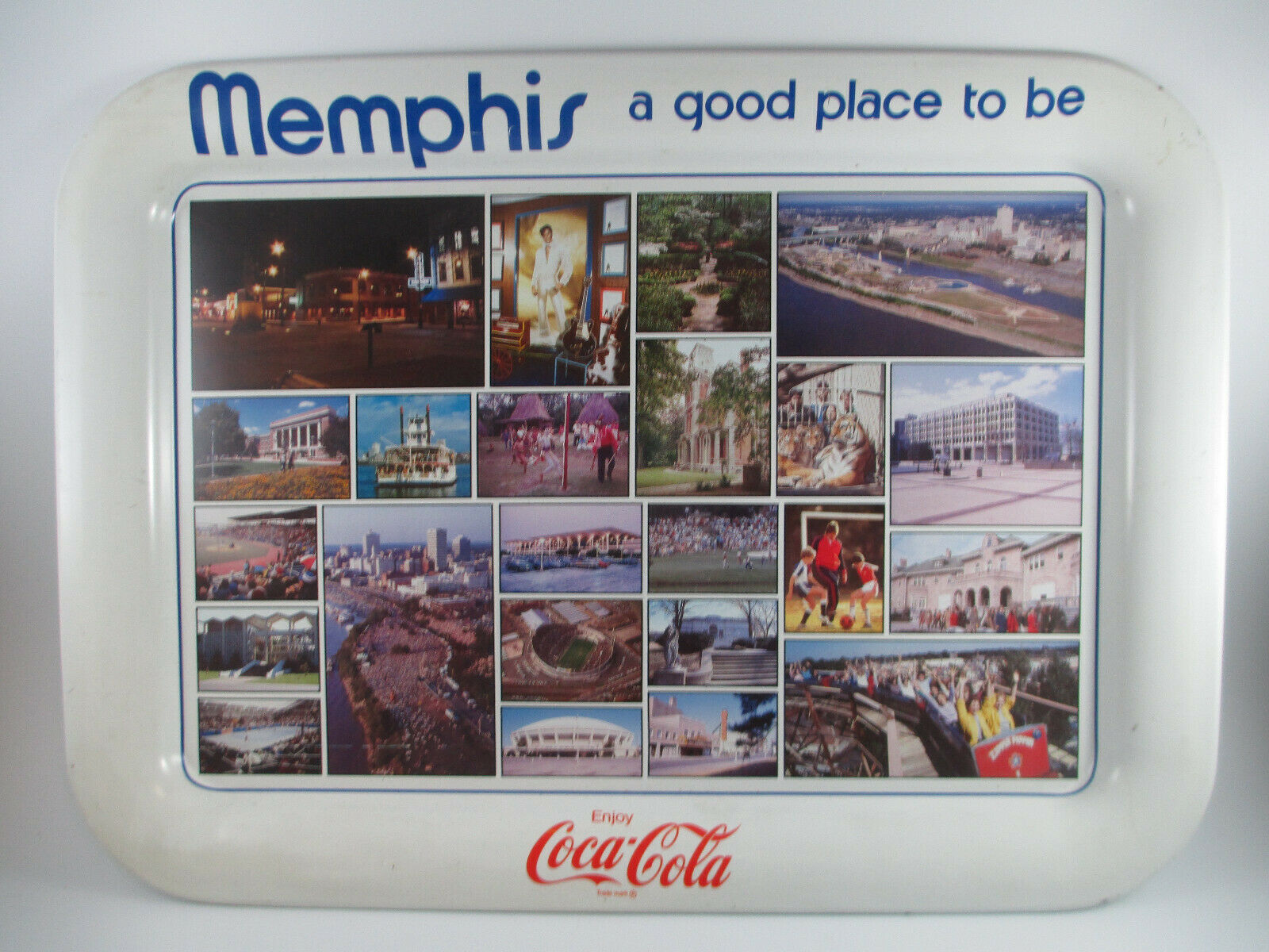 Primary image for Coca-Cola Tin Tray Memphis A Good Place to Be Issued 1984