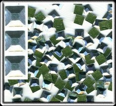 SQUARES Faceted Rhinestuds 5mm SILVER Color Hot Fix 1gr - $5.05