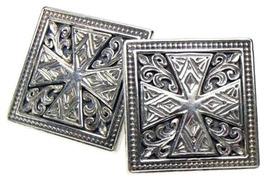 Gerochristo 7101 - Sterling Silver Medieval Cross Cufflinks  - $280.00