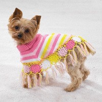 Primary image for DOG Casual Canine Crocheted Ponchos Shawl LARGE