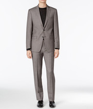 NEW MENS CALVIN KLEIN WOOL EXTREME SLIM FIT BIRDSEYE SUIT 38 SHORT 31W S... - $161.99