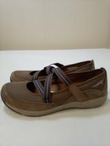Dansko 37 Womens Brown Suede Leather Shoes Strappy Casual Sneakers Hook and Loop - $31.40