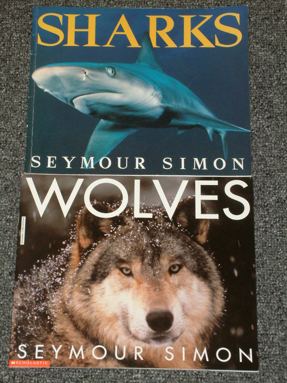 6 by Seymour Simon, Oceans signed by the author, Volcanoes