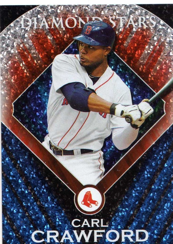 2011 Topps Diamond Star Carl Crawford Boston Red Sox / Rays
