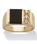 Men's .30 TCW Genuine Black Onyx 14k Yellow Gold-Plated Ring - $27.82