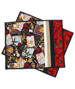 Italian Pasta Placemats pair, handmade chef coo... - $24.00