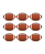Football edible cake strips cake wraps frosting decorations - $7.80