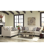 CALAIS Modern White Living Room Furniture Microfiber Sofa Couch Loveseat... - $1,469.72
