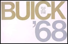 1968 Buick Brochure- GS400 GS350 Wildcat Skylark LeSabre Electra 225 Riviera 68 - $11.40