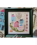 Autumn In The Village fall stitch chart Cottage Garden Samplings - $8.82