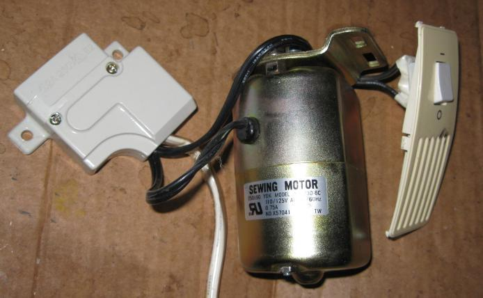 Primary image for Brother Free Arm 0.75 Amp Motor w/ Lamp, On/Off Switch & Harness