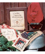 Tea Time OOP Primitive Stitchery pattern  - $3.50