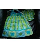 Bonnie Baby Infant Girl Plaid/Butterfly Appliques 2 Pc.Sundress Set, Sz ... - $17.99