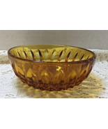 Vintage Mt. Vernon Amber Indiana Glass Bowl Berry Bowl Candy Dish 1970's - $5.00