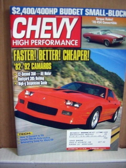 Chevy High Performance October 2001 Convert to TPI