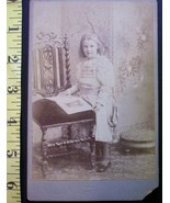 Cabinet Card Photo Pretty Young Blonde Girl! c.1866-80! - $4.00
