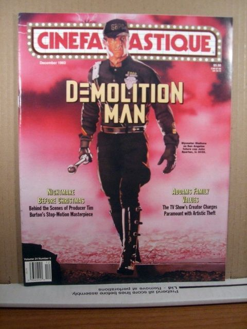 Cinefantastique December 1993 Demolition Man, Sylvester Stallone