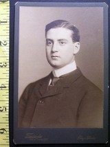 CABINET CARD PHOTO VERY HANDSOME YOUNG MAN N.Y. STUDIO WOW! c.1880-90! - $5.00