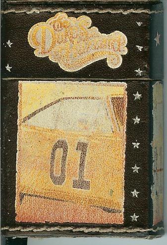 Dukes of hazzard general lee leather cover, refillable butane zippo-like lighter