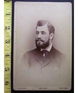 CABINET CARD PHOTO HANDSOME FULL BEARDED MAN NEW YORK NICE! c.1866-80! - $5.00