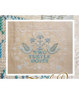 Two Turtle Doves stitch chart Cottage Garden Samplings - $6.75