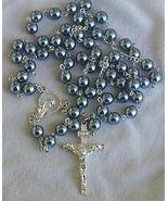 Dark grey pearls rosary - $30.00