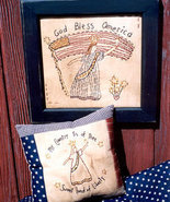 Liberty Lady Samplers OOP patriotic Primitive Stitchery patt - $3.50