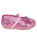 WonderKids Baby Girls *Roxana 2* Sequin Ballet Flats - Pink, Sz. 5 US/21... - $12.99