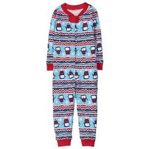 NWT Gymboree Fair Isle Penguin Romper Gymmies Pajamas Sleeper - $10.99