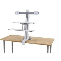 Ergotron WorkFit-S Dual Monitor Stand With Worksurface+ 33-349-211 - $2,270.14