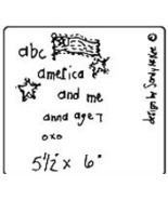 ABC America OOP Primitive Stitchery pattern tea dyed - $3.00