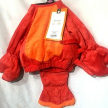 Infant Costume Lobster 0-6 Months Plush Body Tail Attached No Headpiece Red Top - $10.76
