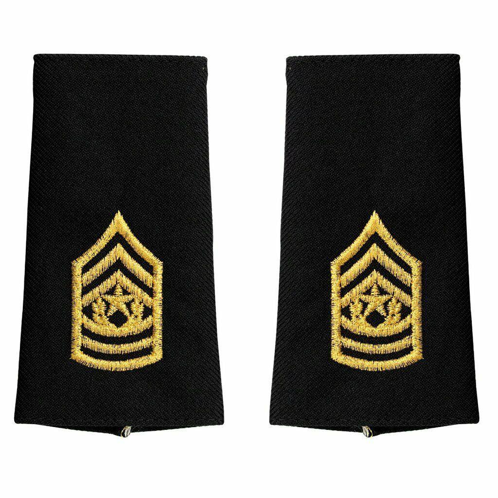 Genuine U.S. ARMY EPAULET: COMMAND SERGEANT MAJOR - LARGE SIZE (MALE) - $16.81