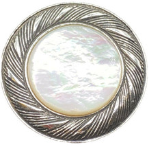 Vintage Dress/scarf Clip Signed Mother Of Pearl & Silver Tone BEAUTIFUL - $10.00