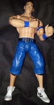 WWE John Cena Wrestling  Action figure Wrestler Mattel 2010 Spring loade... - $9.05