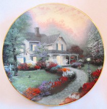 Thomas Kinkade Plate HOME SWEET HOME 1st Issue In Home Is Where The Hear... - $12.00