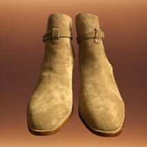 Handmade Men Monkstrap Beige High Ankle Boots image 6