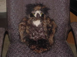 """18"""" Great Horned Owl Plush Toy Head Moves and Bleaking Eyes Folktails Fo... - $98.99"""