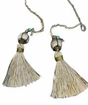 Novarro Tassel Silver Necklace Vanessa Mooney - $38.61