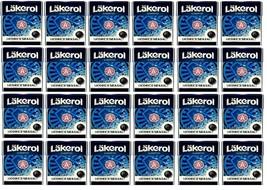 Cloetta Läkerol Classic Licorice Sea salt Sugar free candy 25g * 24 pack 21oz - $49.50