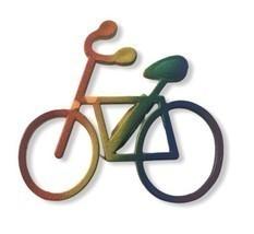 Rainbow bike pin Jewelry Backpack Brooch Pride Bicycle  - £5.58 GBP