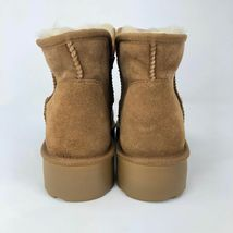 Brand New Kirkland Signature Ladies' Sheep Skin Shearling Short Boots Chestnut image 5