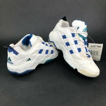 Vintage adidas Donna 8.5 Wild Due Lo Top Scarpe Sportive Bianco Blu Righ... - $41.41