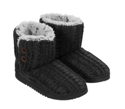Dearfoams Women's Memory Foam Sweater Knit Indoor/Outdoor Bootie Slipper... - $22.99